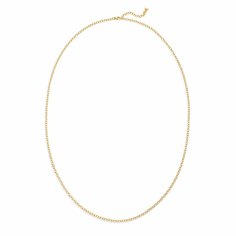 """Image 2 for 18k Extra Small Oval Chain - 24"""""""