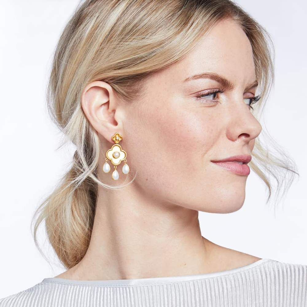 Image 2 for Daphne Chandelier Gold Pearl Earring
