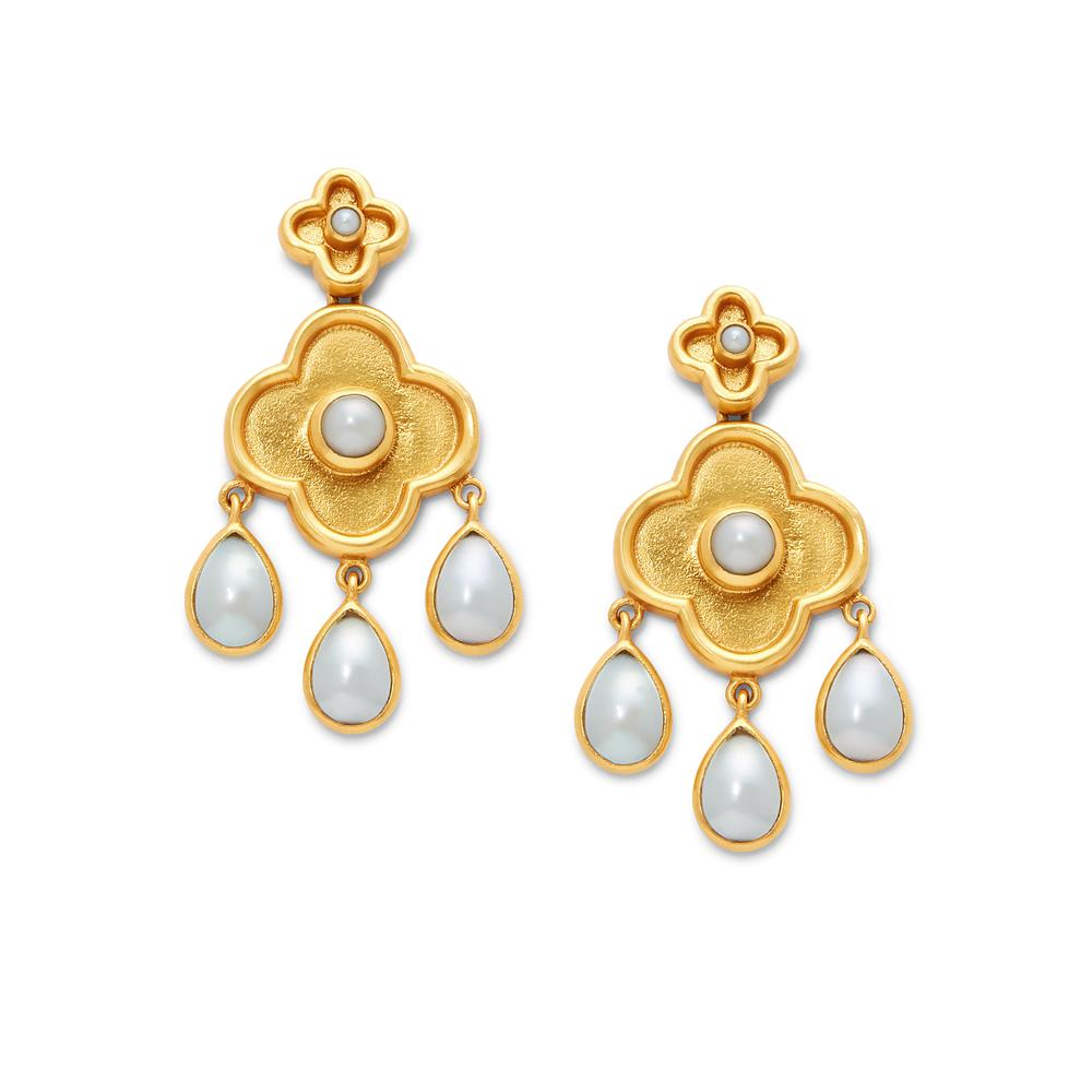 Daphne Chandelier Gold Pearl Earring