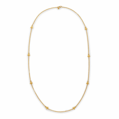 Closeup photo of Bee Station NecklaceGold