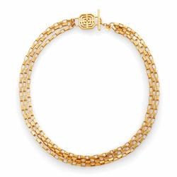 Closeup photo of Geneva Triple Strand Necklace