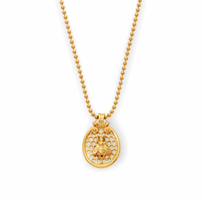Closeup photo of Honey Comb Charm Necklace