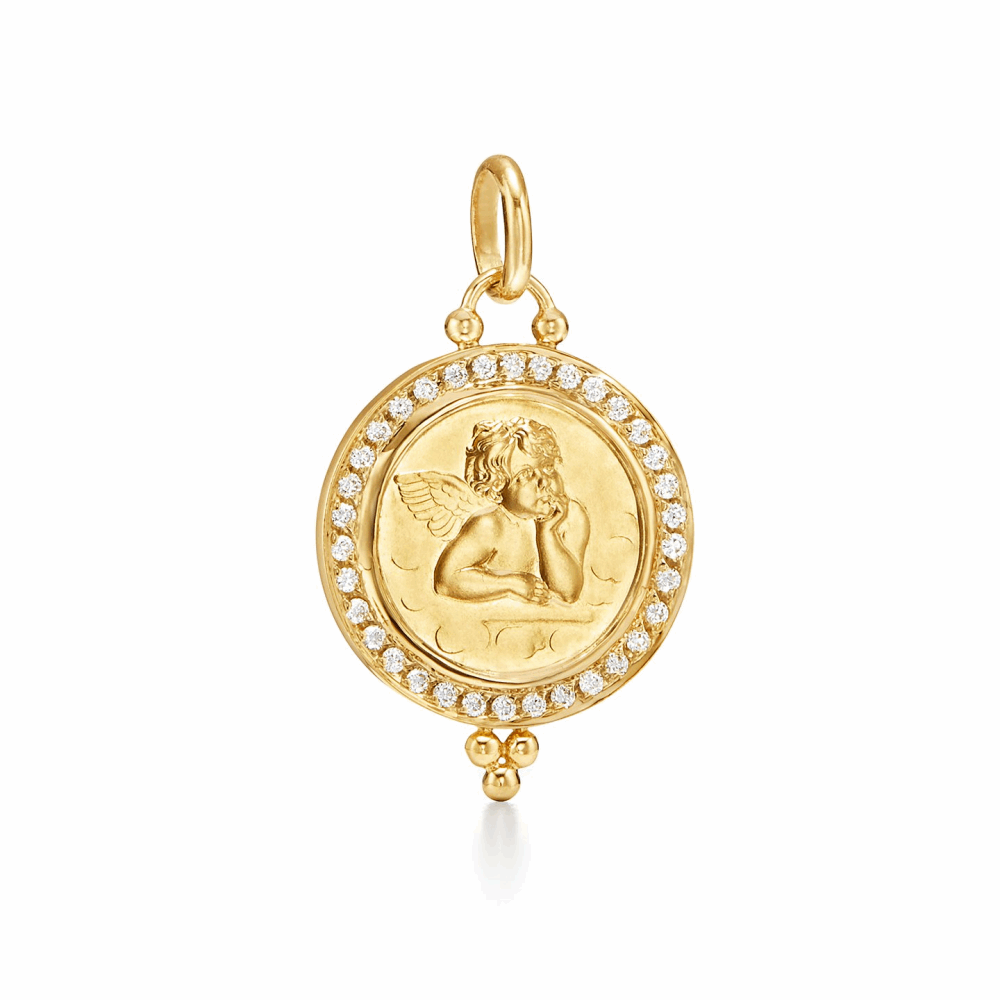 18K Angel Pendant - Medium