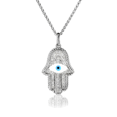 Hamsa Mandala Hand Necklace