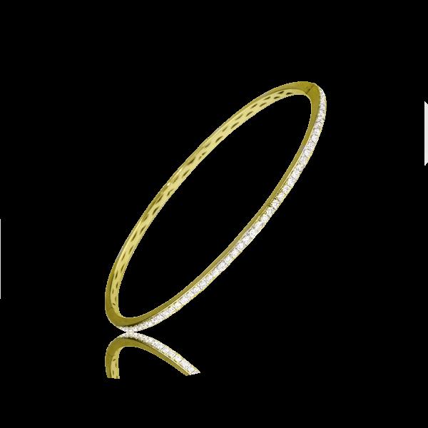 Closeup photo of Thin Gold Mine Bracelet W/Diamonds