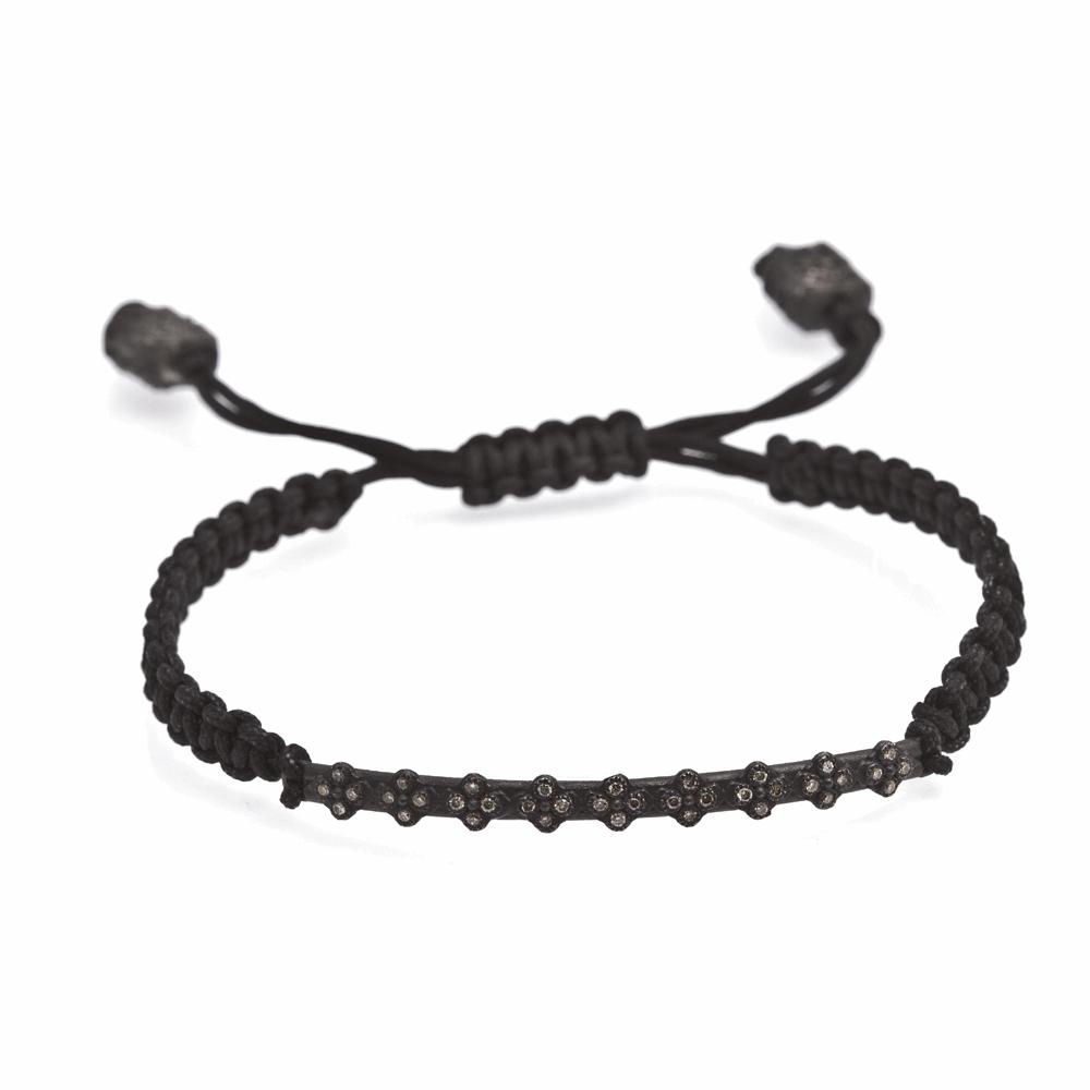 Crivelli Bar Woven Pull Bracelet