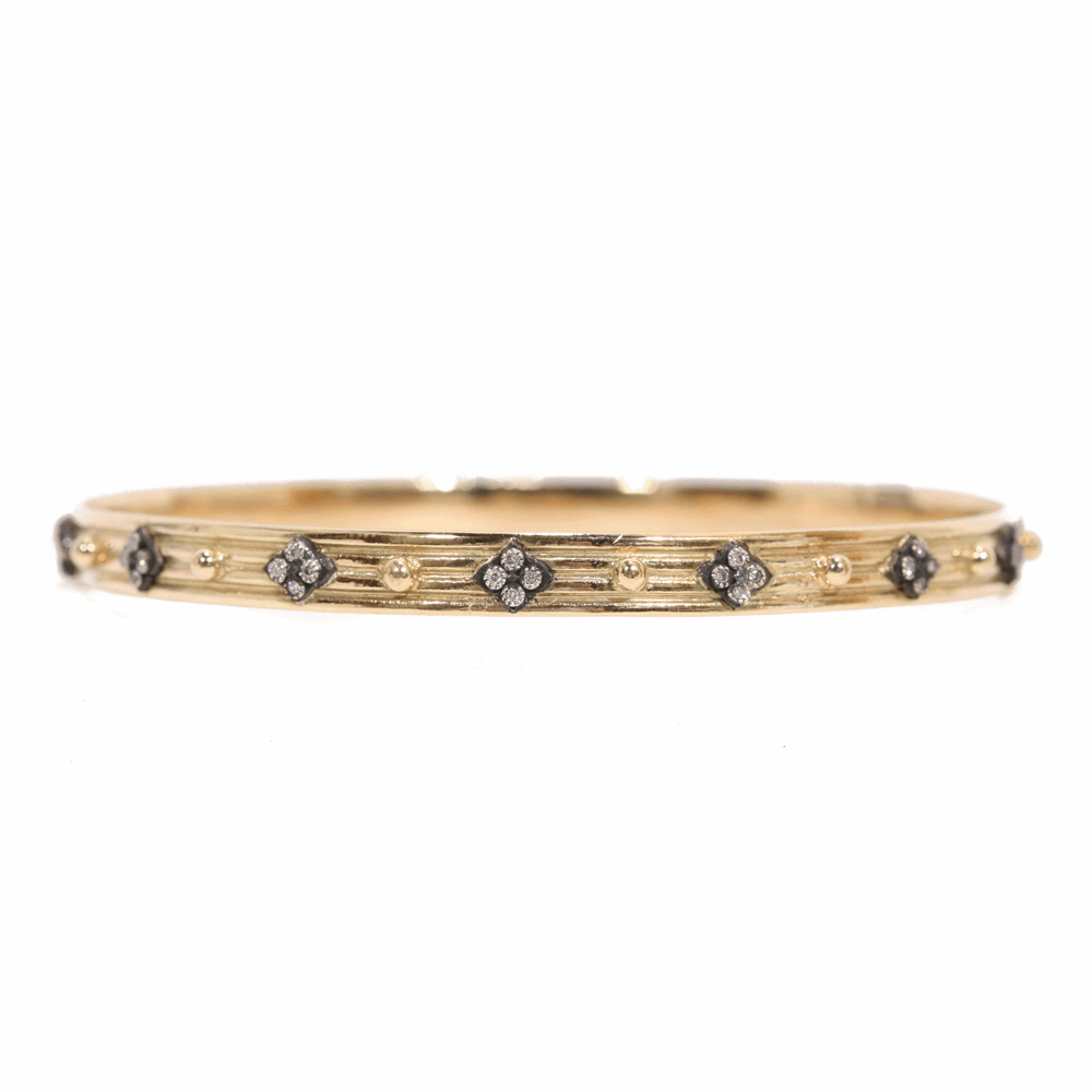 Wide Crivelli Diamond Bangle