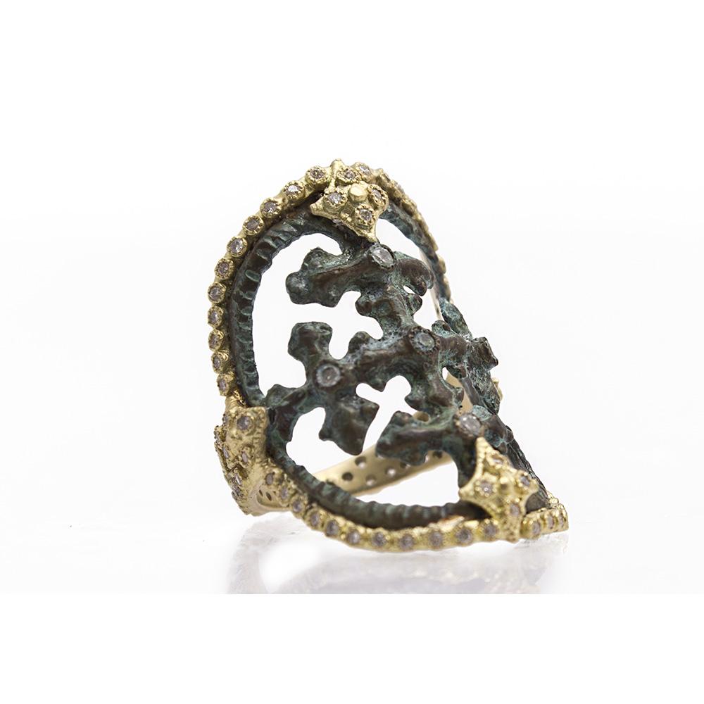 Round Cut-Out Artifact Ring
