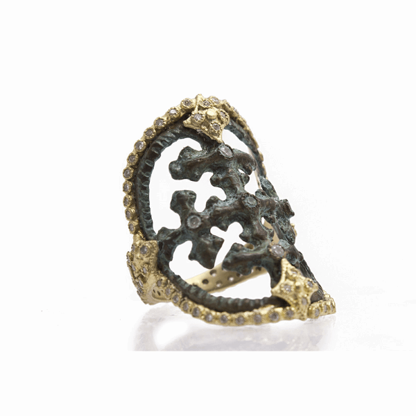 Closeup photo of Round Cut-Out Artifact Ring