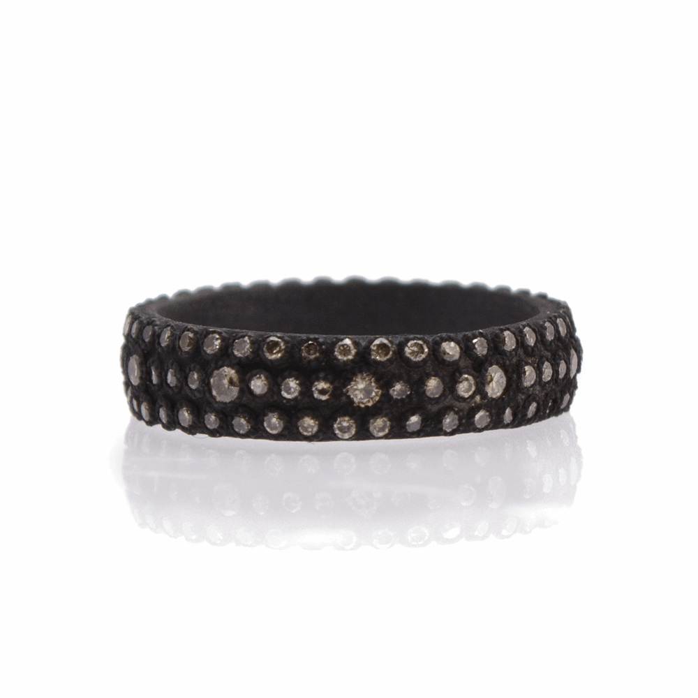 Wide Multi-Eternity Stack Ring