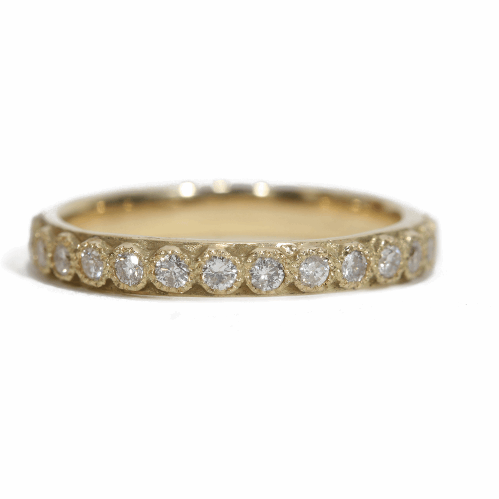 White Diamond Stack Ring - 03082