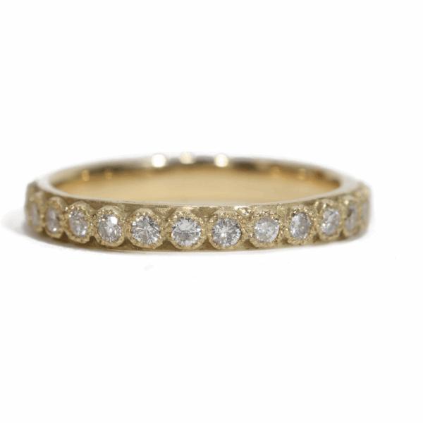 Closeup photo of White Diamond Stack Ring - 03082