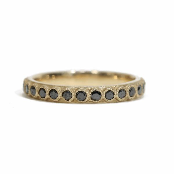 Closeup photo of Black Diamond Stack Ring