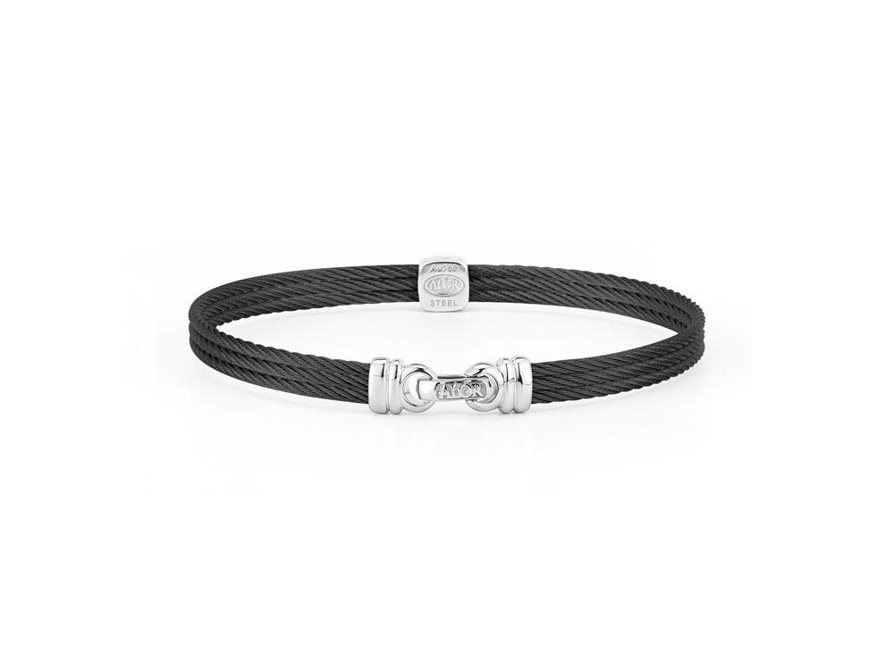 Image 2 for Noir Single Squared Station Bangle