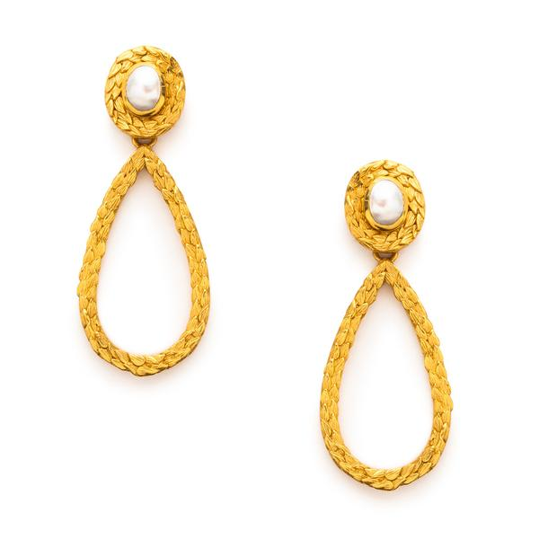 Closeup photo of Penelope Statement Earring
