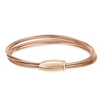 Closeup photo of DNA Spring Thin Bracelet - Rose Gold