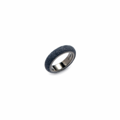 Mix & Match Stackable Polvere Di Sogni Ring - Ruthenium & Dark Gray Dust