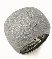 Small Pillow Polvere Di Sogni Ring - Ruthenium & Light Gray Dust