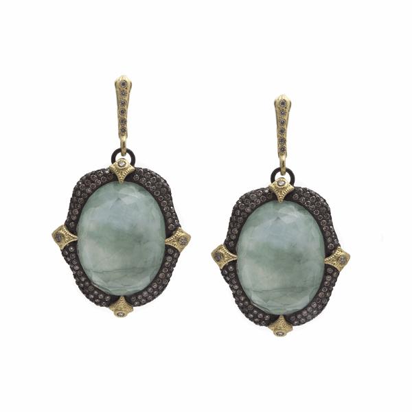 Closeup photo of Emerald Oval Earring