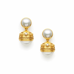Closeup photo of Medici Statement Earring