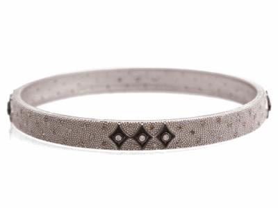 Oxidized Sterling Silver Bracelet - 10715.0