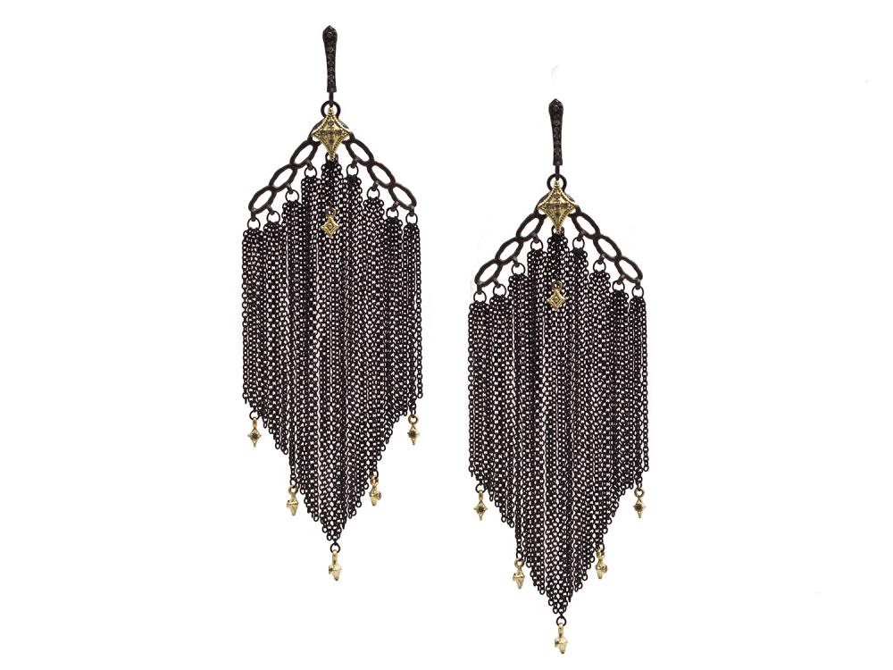 Champagne Diamond Earring - 13321
