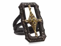 Closeup photo of Champagne Diamond Ring