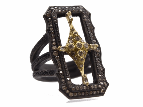 Closeup photo of Champagne Diamond Ring - 13773