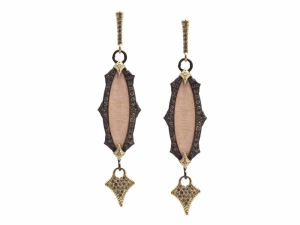 Closeup photo of Champagne Diamond Earring - 13858