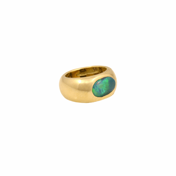 Closeup photo of Oceanic Opal Gypsy Ring