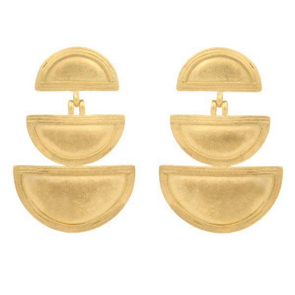 Closeup photo of Triple Telsum Earrings