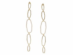 Closeup photo of 18k Yellow Gold Earring - 14757