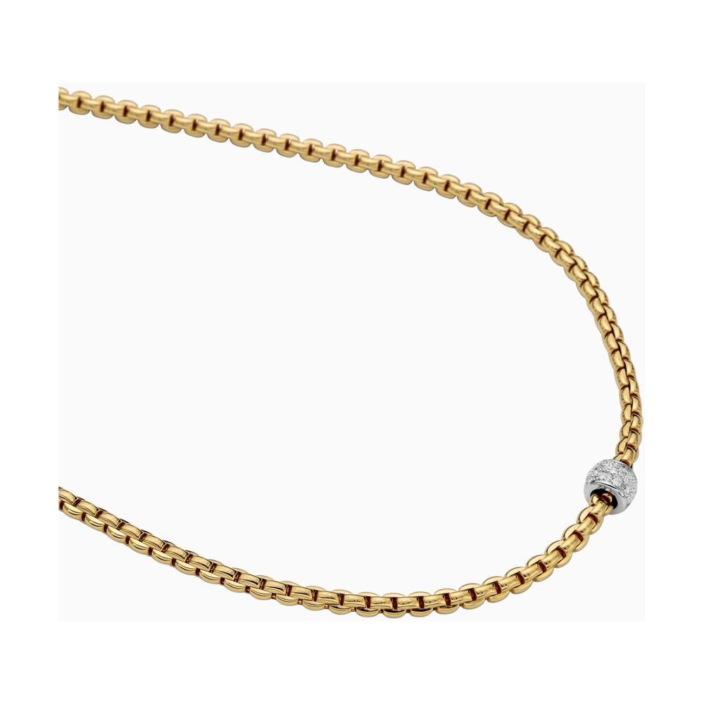 EKA Tiny Necklace with Diamond Pavé