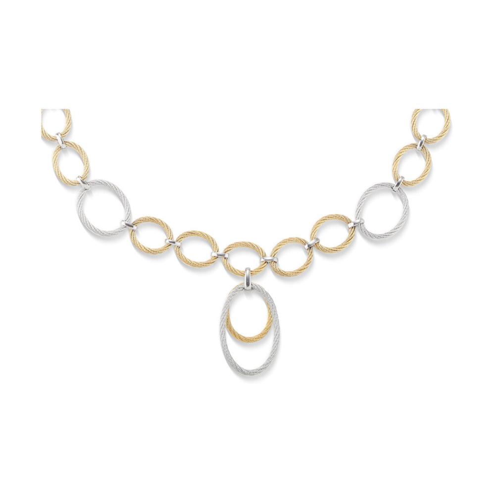 Interlocking Drop Cable Necklace