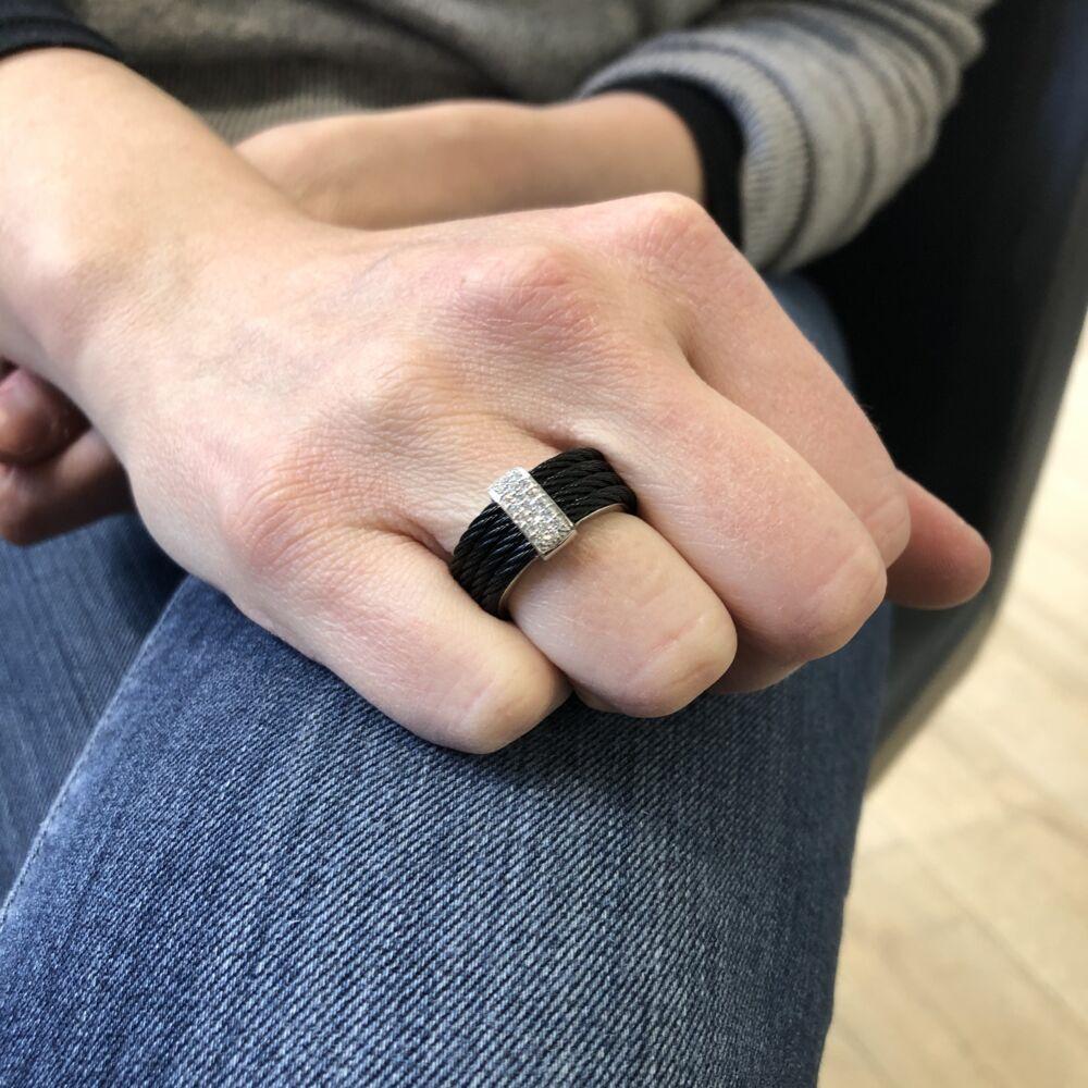 Diamond Bar Ring