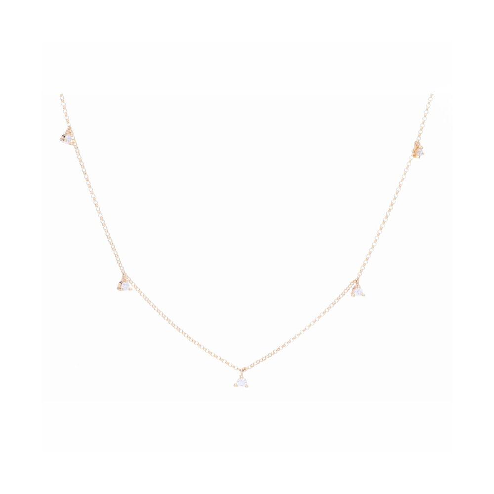 Petite Martini Set Diamond Dangle Necklace