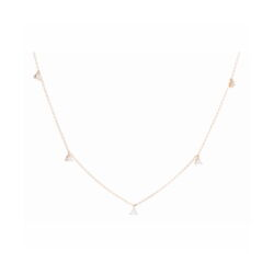 Closeup photo of Petite Martini Set Diamond Dangle Necklace