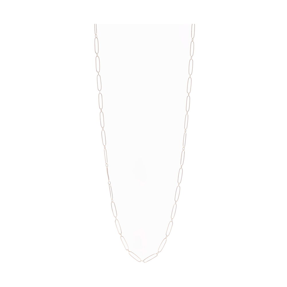 14k Yellow Gold Paper Clip Necklace