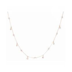 Closeup photo of 14k YG 13 DIA: 0.56tcw Dancing Diamond Necklace
