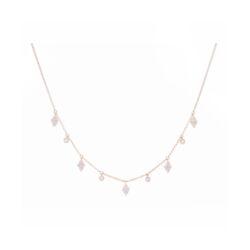 Closeup photo of 14k YG Diamond/Circle Fringe Necklace