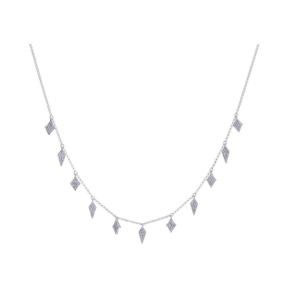 14k WG Diamond Fringe Necklace
