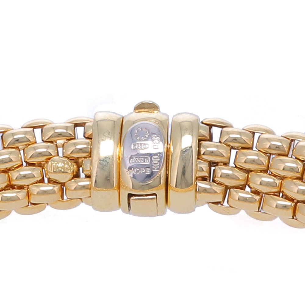 Image 3 for 18k Estate Fope Woven Link Bracelet 30.4g