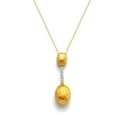 Closeup photo of Yellow Gold Dancing Elite Large Drop Necklace