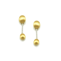 Closeup photo of Yellow Gold Dancing Elite Diamond Drop Earrings