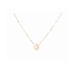 Closeup photo of 18k Yellow Gold Diamond Shaped Pendant with Diamond Center