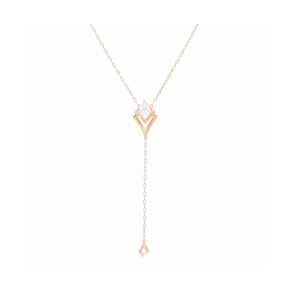 Y Shaped Diamond Necklace