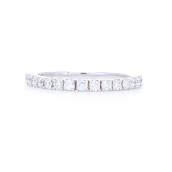 "Closeup photo of 14k White Gold Brilliant Cut White Diamond ""Flexible"" Band"