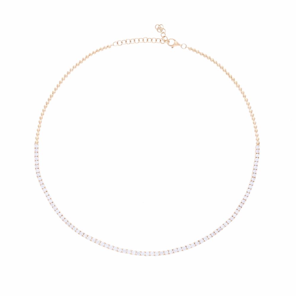 4 Carat 1/2 Way Diamond Choker Necklace