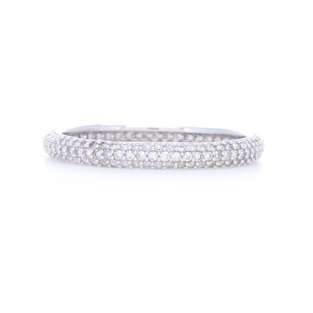 3 Row Pave Set Diamond Eternity Band 0.62ct 1.4g