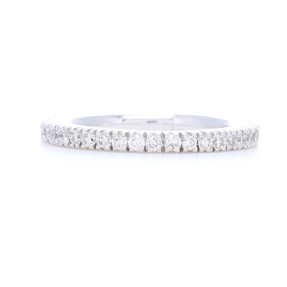 White Diamonds Prong set in 18k White Gold Eternity Stack Ring